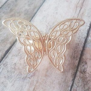 Gold-Plated Butterfly Ring